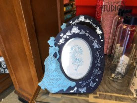 Shoppers now have an array of Cinderella themed tableware and associated decor just in time for holiday gift selections. Decorative china plates, tea cups, mugs, along with a beautiful coordinated tea pot are all available at this Hollywood Blvd store location. Guests can include water bottles and photo frames, all with a Cinderella themed design. Disney's Hollywood Studios. Photo by John Capos