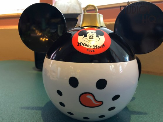 Guests can enjoy their favorite hot or cold beverage in a new decorative Mickey Mouse Snowman cup. Designed after the popular holiday tree ornament, this plastic cup includes a Mickey Mouse Club logo seal on the lid. Guests can purchase their very own cup at Disney Quick Serving dining locations through the Park. Disney's Hollywood Studios. Photo by John Capos