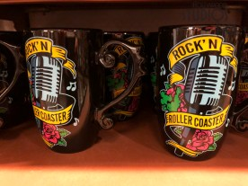 Beautifully detailed mugs await shoppers this holiday season. Guests can select from Rock' N Roller Coaster, princess, or Little Mermaid themed mugs. Hollywood Studios HQ provides the latest news on new merchandise offerings throughout the Park. Disney's Hollywood Studios. Photo by John Capos