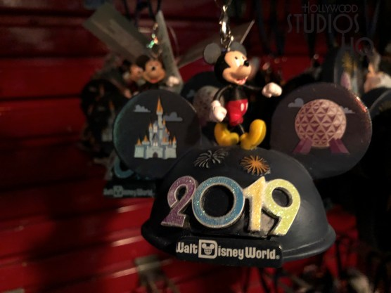 A variety of holiday tree ornaments are the first merchandise that welcomes in the new year 2019. Selections that will enhance any holiday tree are on display at It's A Wonderful Shop located next to Mama Melrose. Ring in the New Year 2019 with Hollywood Studios HQ. Disney's Hollywood Studios. Photo by John Capos