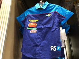 Shoppers can select from Disney Cars themed children's apparel as well as plush and other toy merchandise. Clothing selections include a Lightning McQueen racing jacket. The best merchandise updates are found at Hollywood Studios HQ. Disney's Hollywood Studios. Photo by John Capos
