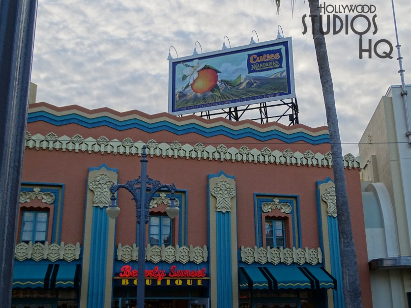 Billboard messages have been replaced atop both Carthay Circle and Beverly Sunset Boutique buildings. The giant replacement signs promote California mandarins and the classic Chevrolet Suburban. View Hollywood Studios HQ for all Park news. Disney's Hollywood Studios. Photo by John Capos