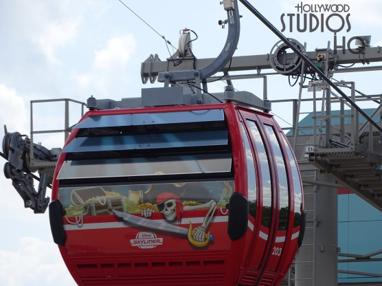 Crews have unwrapped all the gondolas on the Hollywood Studios Skyliner route. Numerous beloved Disney Characters adorn the cabin exterior surfaces. Meanwhile Skyliner station site and structural work continues. Stay connected to Hollywood Studios HQ for the latest Skyliner construction updates. Disney's Hollywood Studios. Photo by John Capos