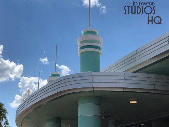 Crews have completed painting of the roof top spires and have installed new Skyliner station signage. Also additional foliage has been added to the landscaping. Stay tuned to Hollywood Studios HQ for latest Skyliner updates. Disney's Hollywood Studios. Photo by John Capos