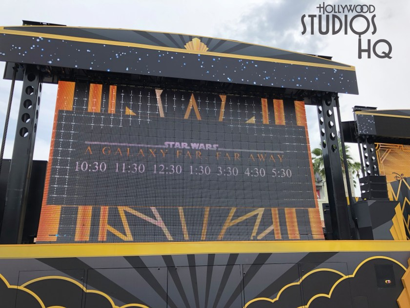 The popular March of the First Order has stopped their daily performances. A Galaxy Far Far Away show is still performing daily at Center Stage. Disney's Hollywood Studios. Photo by John Capos