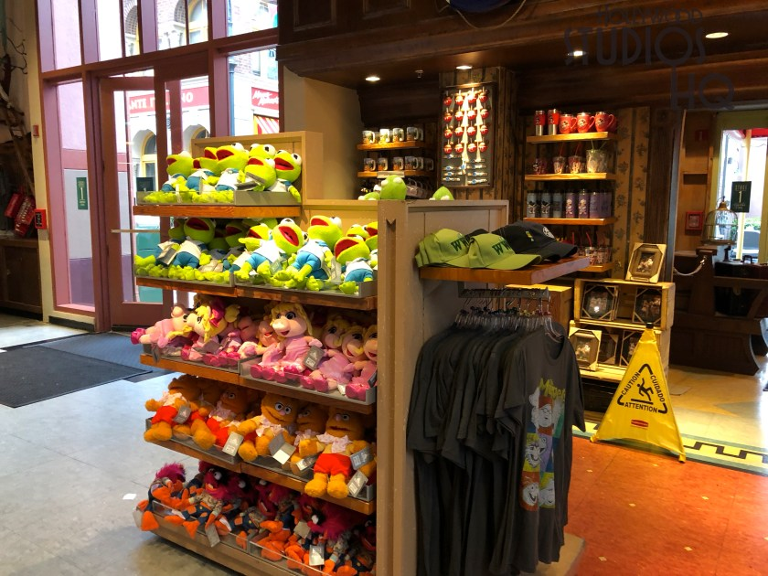 Guests looking for Muppets merchandise inside Stage 1 Company will find a reduced selection. One merchandise display unit now welcomes guests entering the store. Disney's Hollywood Studios. Photo by John Capos
