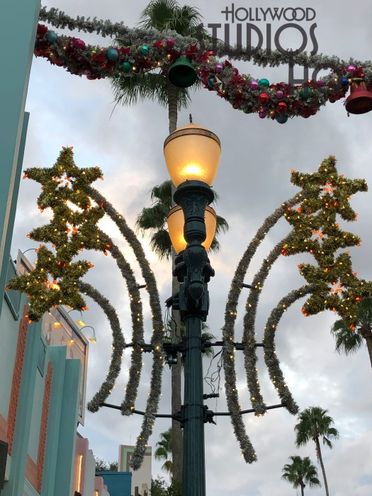The Park's colorful holiday decorations are in place to delight guests of all ages. Nighttime Jingle Bell Jingle Jam fireworks can be viewed nightly at 9pm for the entire holiday season. The popular Sunset Seasons Greetings projection show, complete with a stunning laser display, entertain guests from 6pm to Park close. Enjoy all the ongoing Christmas news right here at Hollywood Studios HQ. Disney's Hollywood Studios. Photo by John Capos