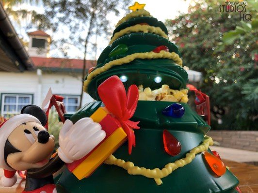 Fresh and hot popcorn is now available in a festive holiday tree container at outdoor park vending locations for $25. Guests can now enjoy their snack in this container adorned with actual lights and Mickey Mouse. Stay tuned to Hollywood Studios HQ for all Park holiday news. Disney's Hollywood Studios. Photo by John Capos
