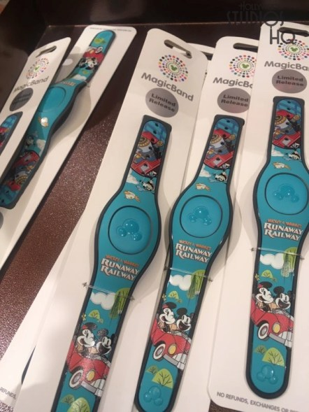 Guests can commemorate the March 4th grand opening of the new Mickey & Minnie's Runaway Railway attraction with themed merchandise available throughout the Park. Shoppers can select from among adult and youth tee shirts, conductor hats, plush, as well as beverage cups. Merchandise includes wooden train whistles and a collection of beautifully detailed holiday ornaments. Stay tuned here at Hollywood Studios HQ for the latest news on this new zany adventure staring Mickey Mouse and friends. Disney's Hollywood Studios. Photo by John Capos