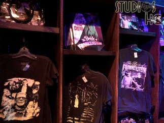 Shoppers can enter the scary spirit with a selection of Halloween Horror Nights themed pins, mugs, tee shirts , and frightening pull over masks. The store's ghoulish decor sets the perfect mood for this Fall celebration. Stay connected to Hollywood Studios HQ for all Park news. Photo by John Capos. Universal Orlando