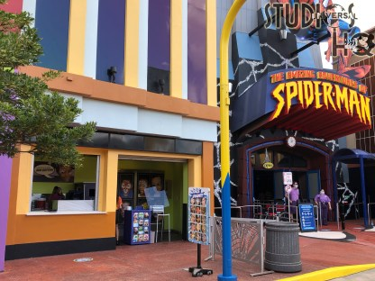Guests of all ages can once again enjoy their favorite face painting design. This kiosk is located next to the Amazing Adventures of Spider-Man attraction. Hollywood Studios HQ keeps you informed with up to the minute Park news. Universal Orlando. Photo by John Capos