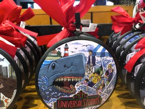 Guests can now select from a unique collection of 30th Anniversary themed Christmas ornaments for their holiday tree decorations. Throughout both Parks, store shelves offer shoppers tree decorations commemorating memorable attractions such as Jaws and Back To The Future. Stay connected to Hollywood Studios HQ for the latest Park merchandise news. Universal Orlando. Photo by John Capos
