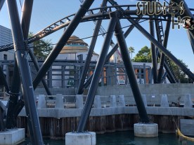 Crews continue work on the new VelociCoaster construction. The installation of personal items safety netting as well as foliage landscaping is now visible in the photos below. Steel fabrication continues on structures as well as the ride vehicle load and unload platform area. Hollywood Studios HQ remains your best source for exclusive Park construction news. Universal Orlando. Photo by John Capos