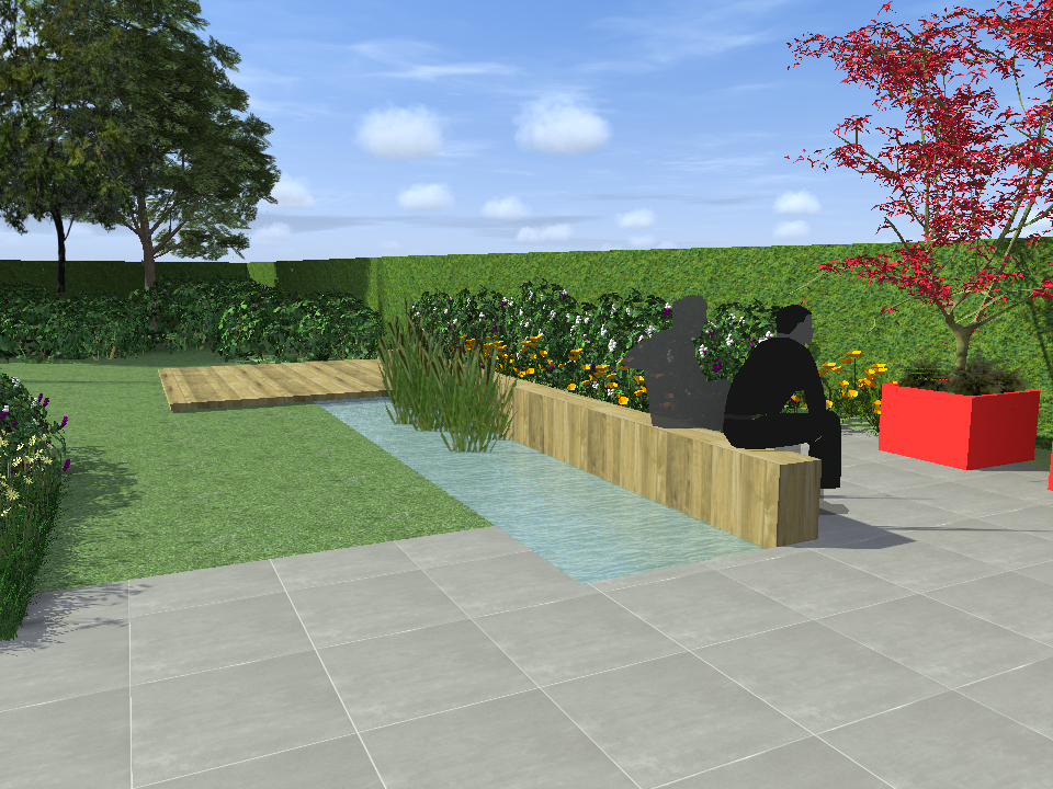 tuinontwerp strakke tuinen