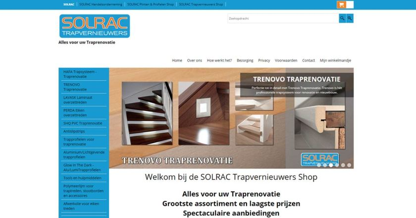 SOLRAC Trapvernieuwers Shop