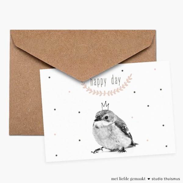 Ansichtkaart-vogeltje-verjaardag