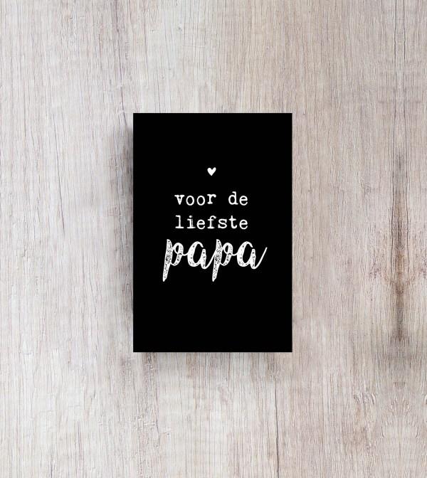 Kaartje-zwart-wit-papa
