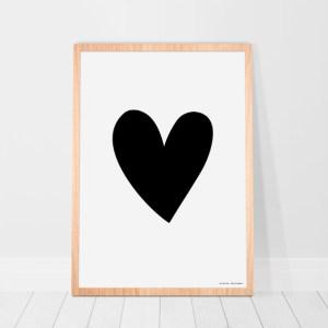 Poster-hartje-zwart-wit