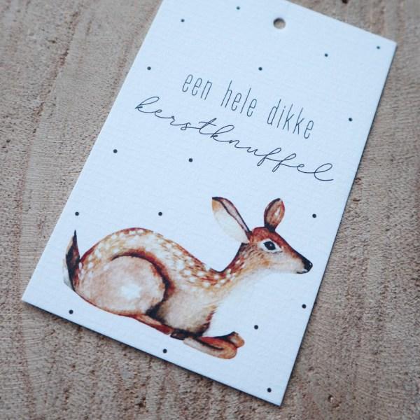 mini kaart rendier cadeaulabel 2