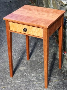 Mike Lynch, A curly cherry one drawer table