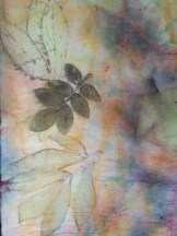 Eco print on silk