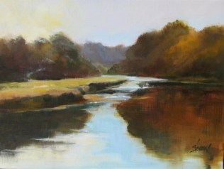 Susan Shaw, Mill Creek, oil 9x12