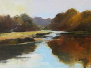 Susan Shaw, Mill Creek, oil 9x12