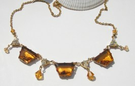 Margarita, Topaz Crystal Necklace