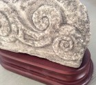 Laura Travis, Curvilinear, Small carving from limestone with mahogany base.