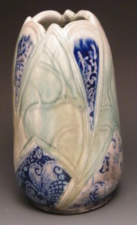 Jay Lacouture, Vase, Soda Vapor Glazed Porcelain