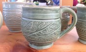 Jan Goodland Metz, Leaf carved mug