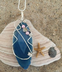 Carol Nash, Wire wrapped agate