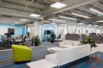 Salary.com's lobby area (Boston real estate design and architecture)