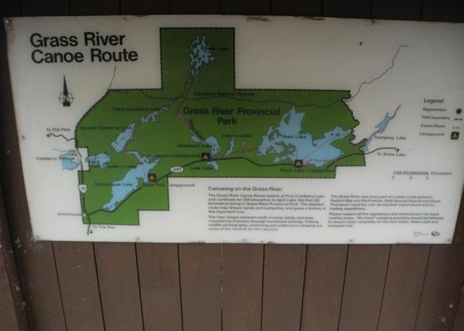 Grass River canoe route sign