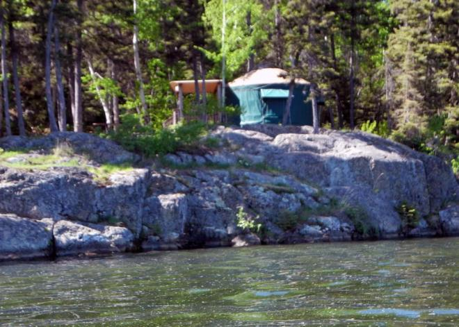 Bakers Narrows yurts