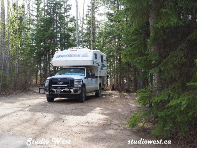Campsite at Greig Lake