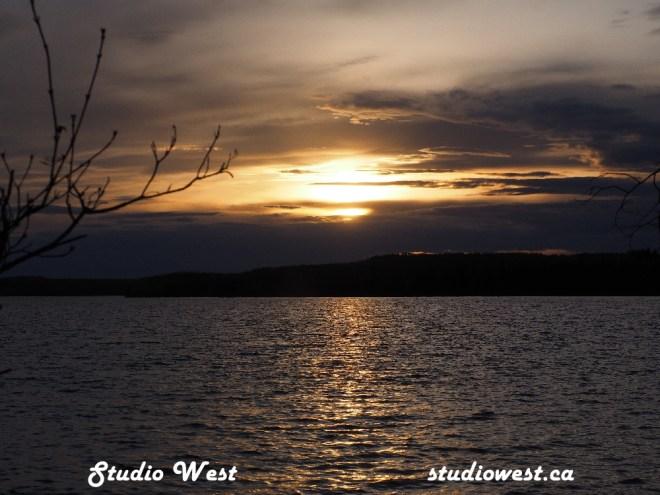 Sunset at Greig Lake
