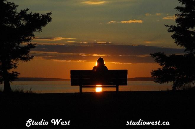 Waskesui Lake sunset