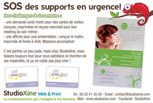 cartes de visites et affiches en urgence