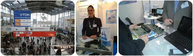 Salon Electronica 2012 à Munich avec la société BMS PowerSafe, spécialiste des BMS (Battery Management System)