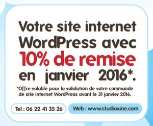 10% de remise sur votre site WordPress