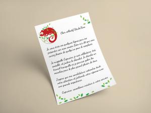 lettre de capucine la caméléone
