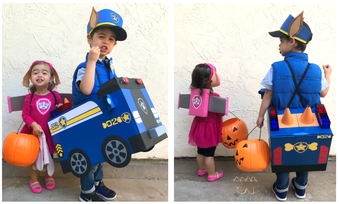 diy paw patrol chase and skye halloween costumes about the middle of summer is when i have a very important conversation with my sonhalloween costumes