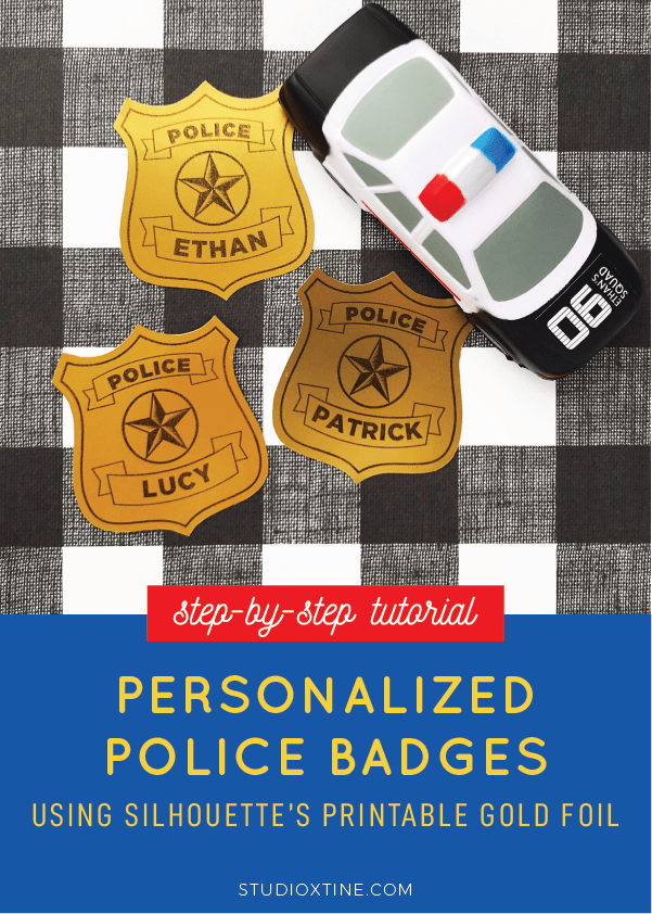 photo about Printable Police Badge titled Do-it-yourself Custom-made Law enforcement Badges Getting Silhouette Printable