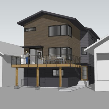 wallingford remodel + addition exterior rendering
