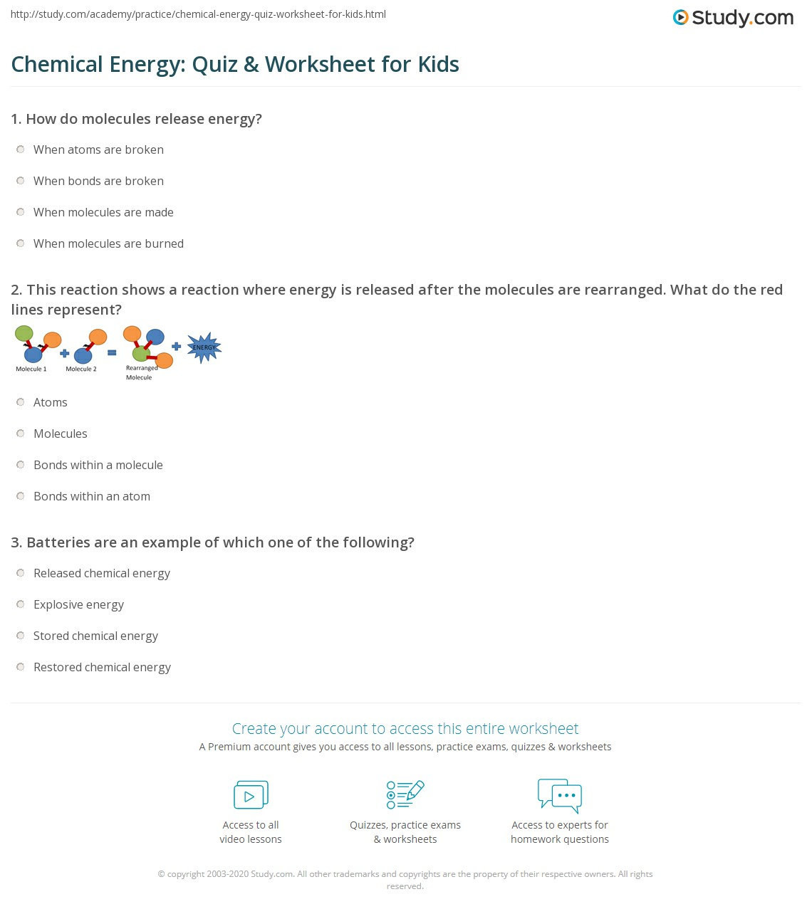 Rearranging Atoms Worksheet Answers
