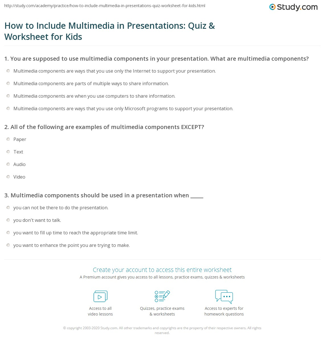 How To Include Multimedia In Presentations Quiz