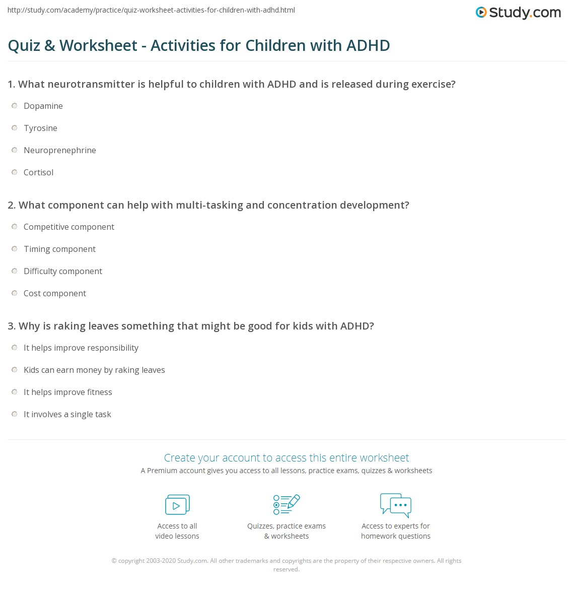 Printable Activities For Kids With Adhd That Are