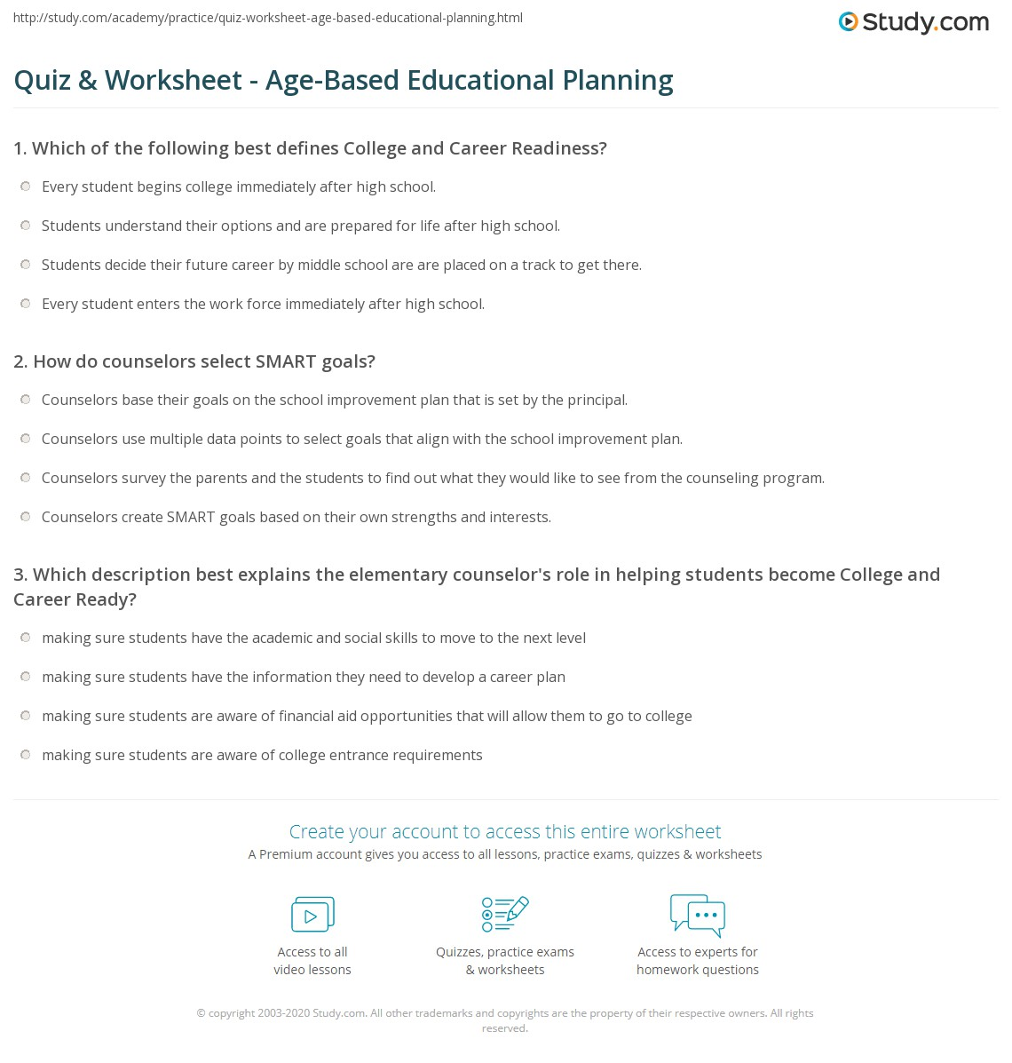 Parenting And Goals Worksheet
