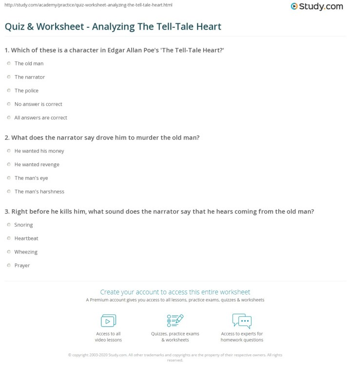 tell tale heart essay questions docoments ojazlink top 189 tell tale heart essay questions